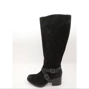 BOC Born Black Tall Suede Leather Riding Boot 7.5